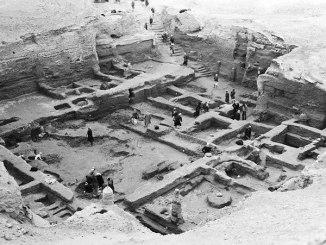 Trabajadores en el yacimiento arqueológico de Nippur