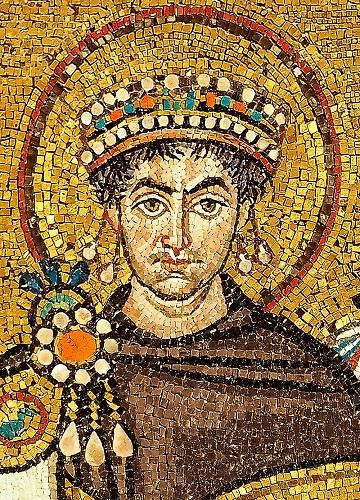Mosaico de Justiniano, soberano bizantino autor del Corpus Iuris Civilis