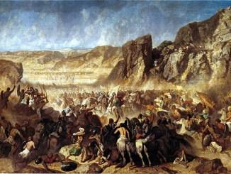 Cuadro sobre la Expedición de los Diez Mil del autor Adrien Guignet