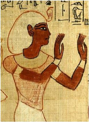 Representación de Herihor en un papiro