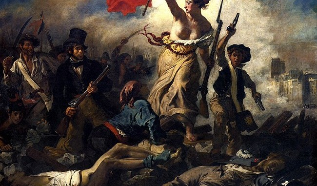 """""""La libertad guiando al pueblo"""", de Eugène Delacroix"""