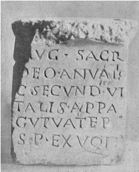 Inscripción del CIL de un gutuater (siglo II dC)