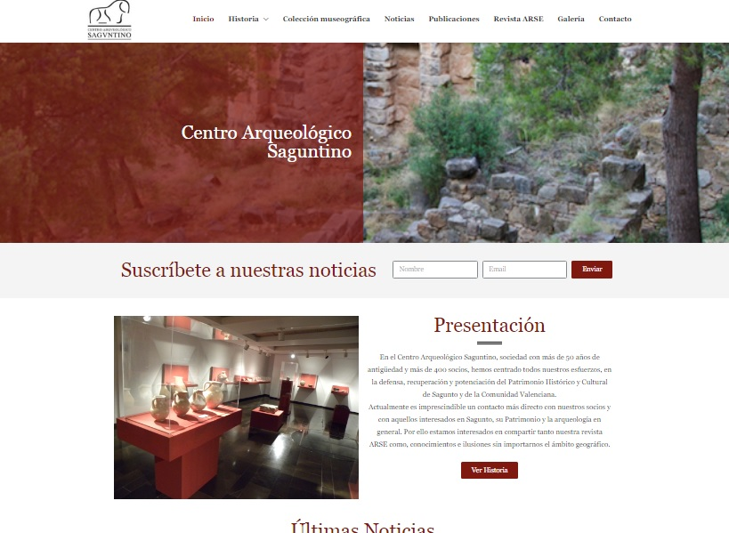 Captura de pantalla del Centro Arqueológico Saguntino