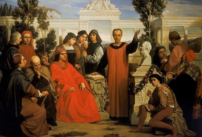 Lorenzo de Medici celebra el nacimiento de Platón