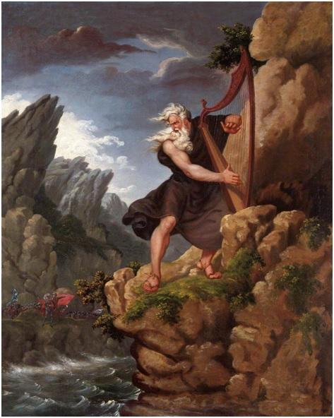 The Bard, John Harrison colorizado por Philip James de Loutherbourg