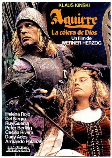 """Cartel promocional de """"Aguirre la cólera de Dios"""""""