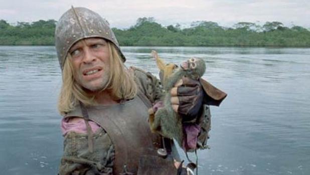 Fotograma de la película mostrando a Klaus Kinski Lope de Aguirre