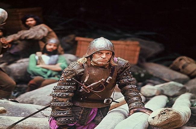 Klaus Kinski, caracterizado como Lope de Aguirre en la película