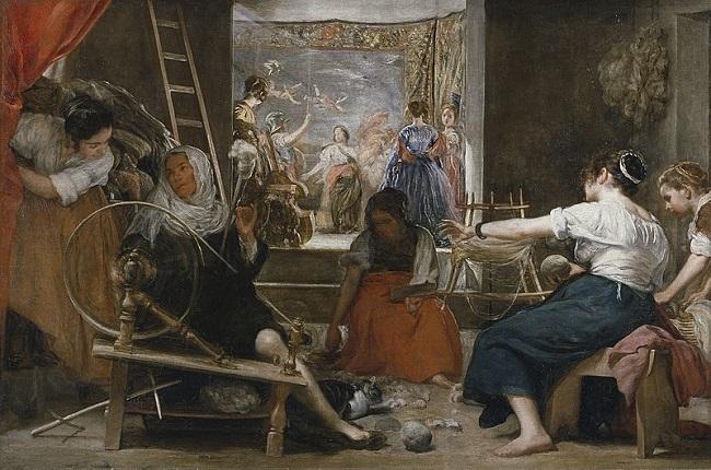 Las hilanderas o la fábula de Aracne, Diego Velázquez, cuadro barroco (1655 – 1660)
