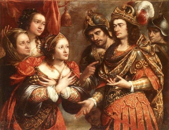 La familia de Darío ante Alejandro Magno, por Justus Sustermans sXVII National Geographic