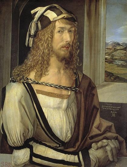 Autorretrato de Alberto Durero, fechado hacia 1498