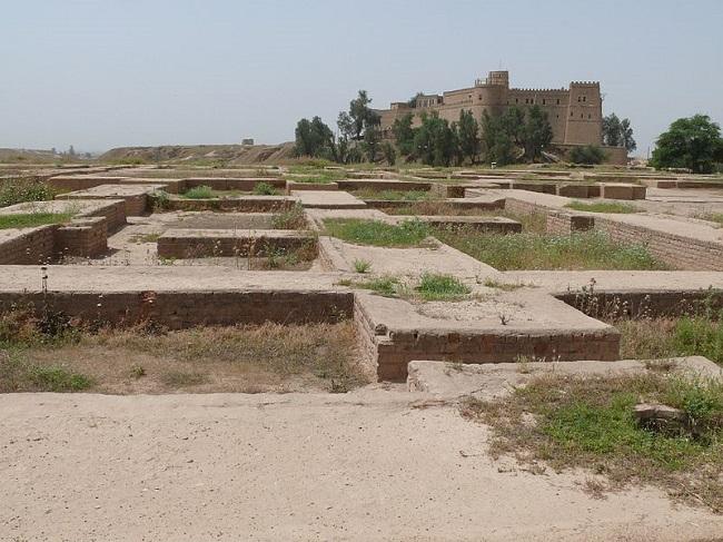 Ruinas actuales del palacio real persa de Susa