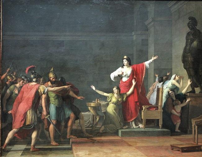 Casandro y Olimpia, obra de Jean-Joseph Taillasson s XVIII