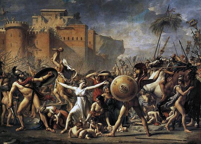 El rapto de las sabinas, obra de Jacques-Louis David hecha en 1799