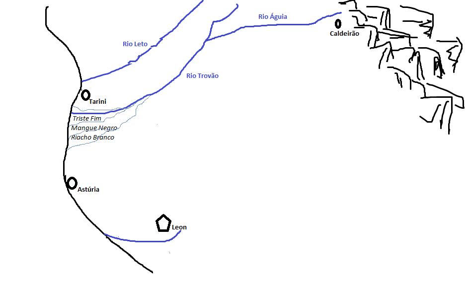 Faixa do Trovão, fronteira Orana
