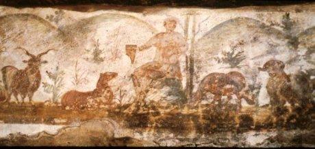 Cristo como Orfeu-catacumba Domitilla-séc.III