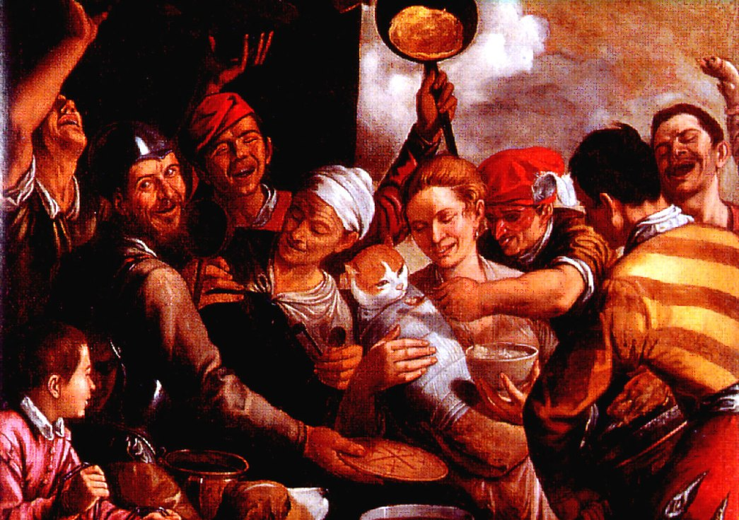 .José a dar a papa ao menino Jesus–Niccolò Frangipani-c.1555