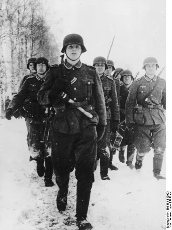 Miembros de la Wehrmacht en el Frente oriental en 1942.