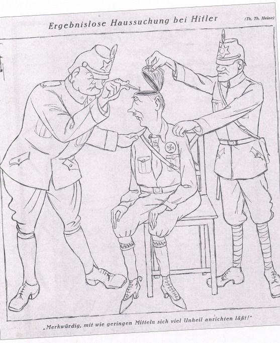 Caricatura de Hitler