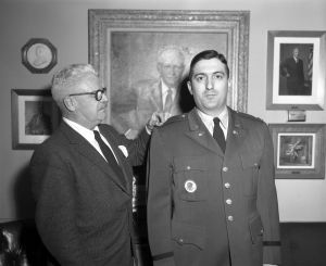 George J. McNally and Anthony S. Suglia in Promotion Ceremony for White House Army Signal Agency