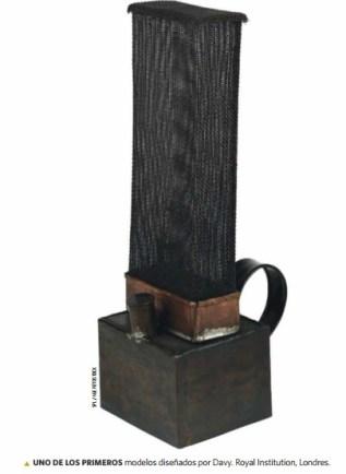 Uno de los primeros modelos diseñados por Davy, Royal Institution Londres