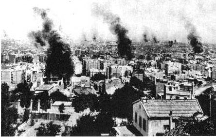 Barcelona en 1909, arden las Iglesias