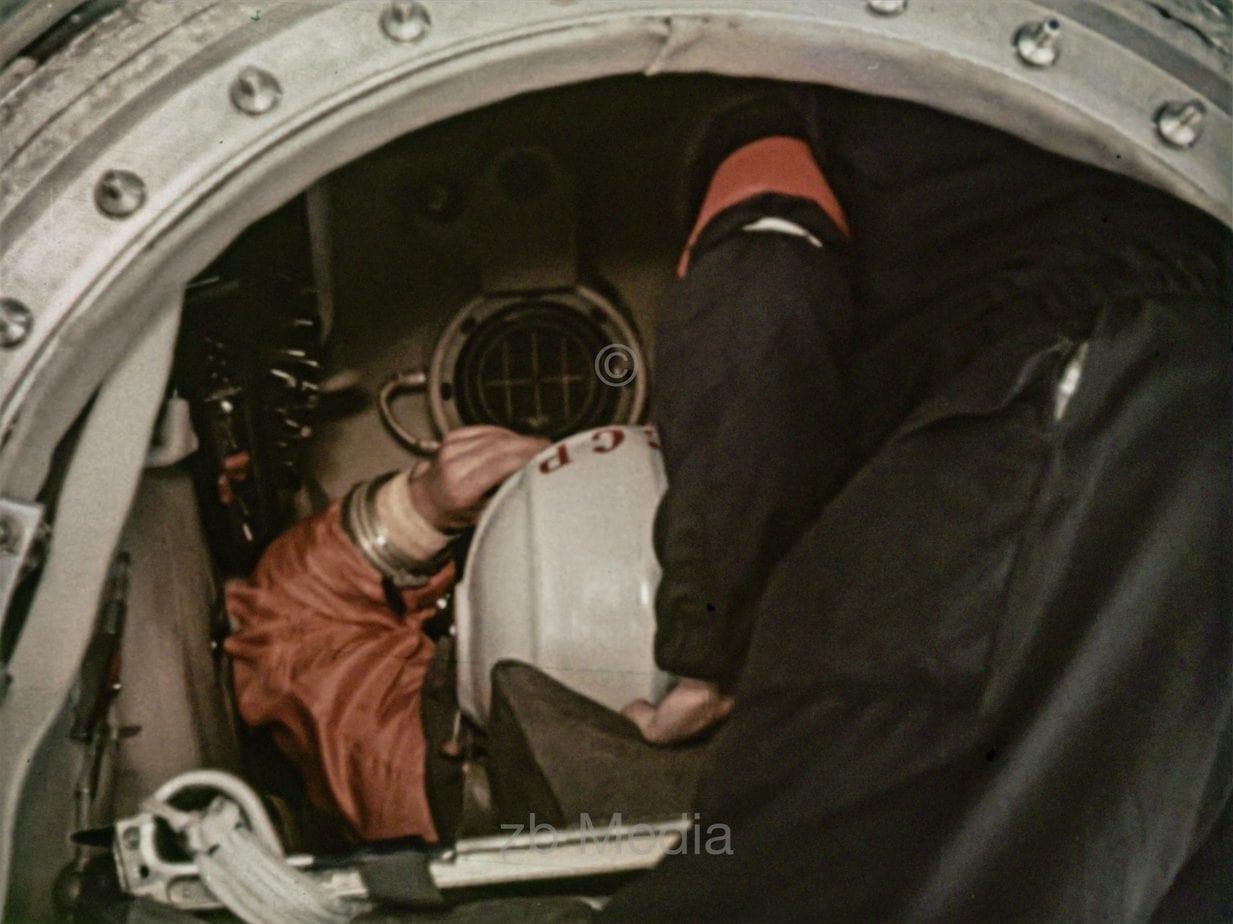 Juri Gagarin in Raumkapsel Wostok