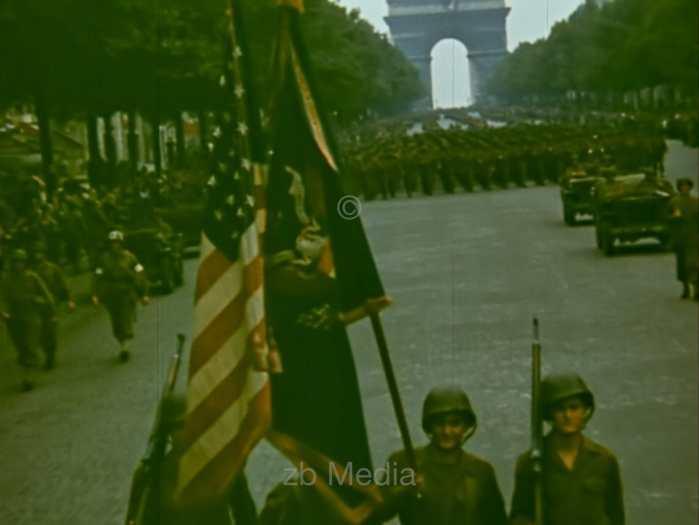 Parade in Paris August 1944