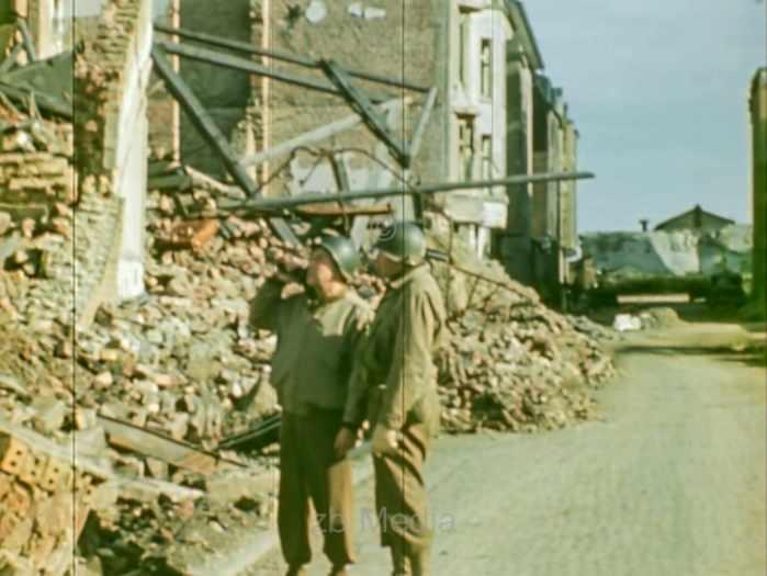 US-Kriegskorrespondenten in Aachen 1944