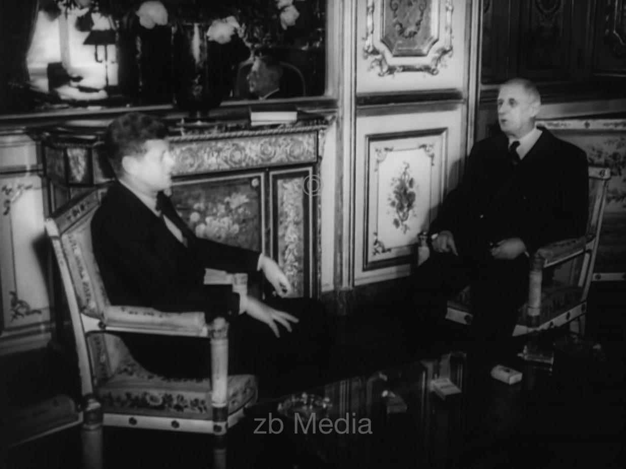 Kennedy und de Gaulle in Paris 1961