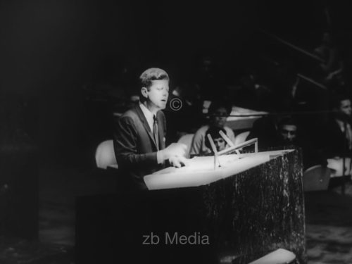 John F. Kennedy spricht vor der UNO