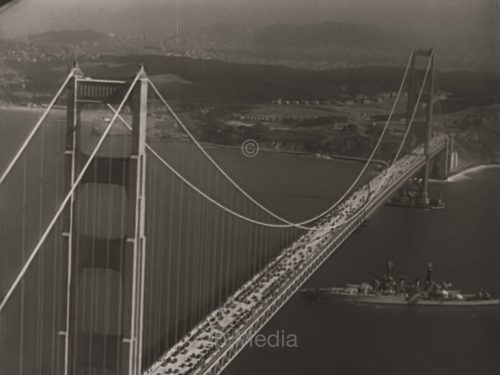 Golden Gate Bridge Aerial 1937