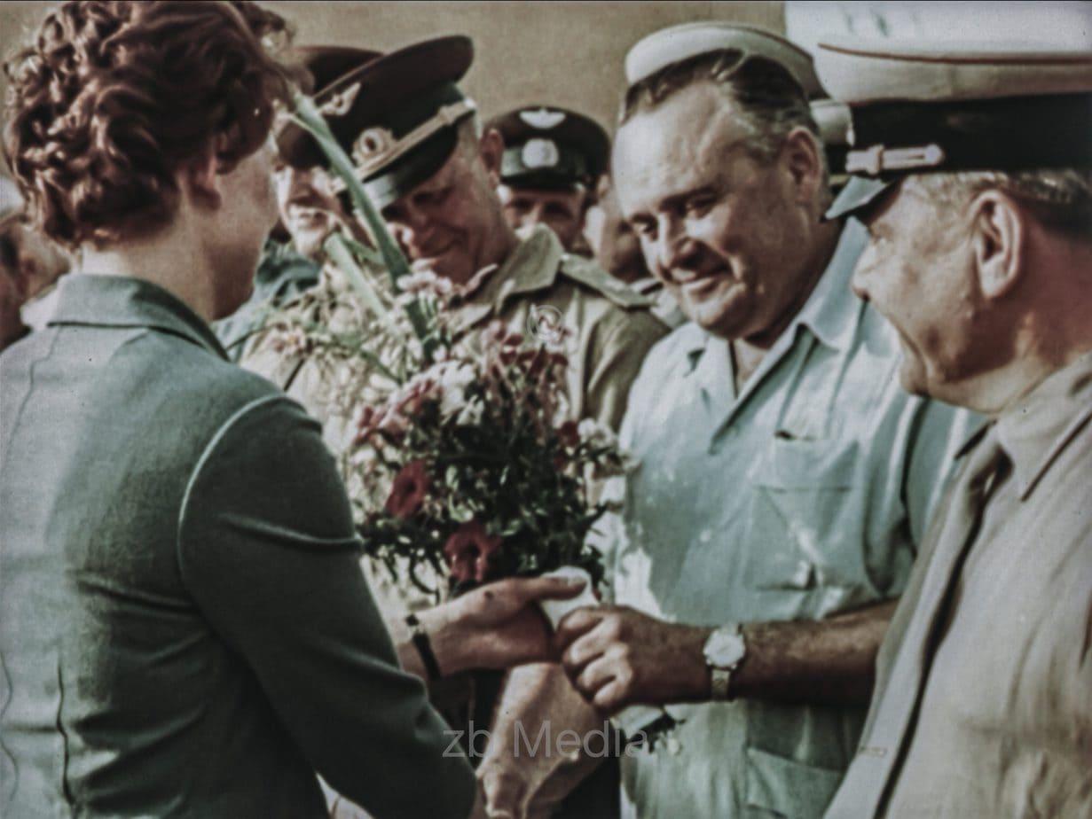 Valentina Tereschkowa vor ihrem Flug