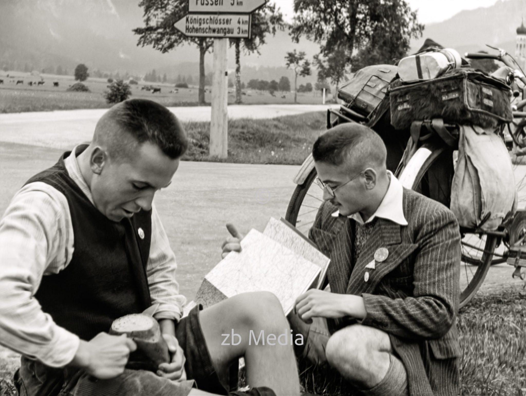 Radtour in Oberbayern 1937