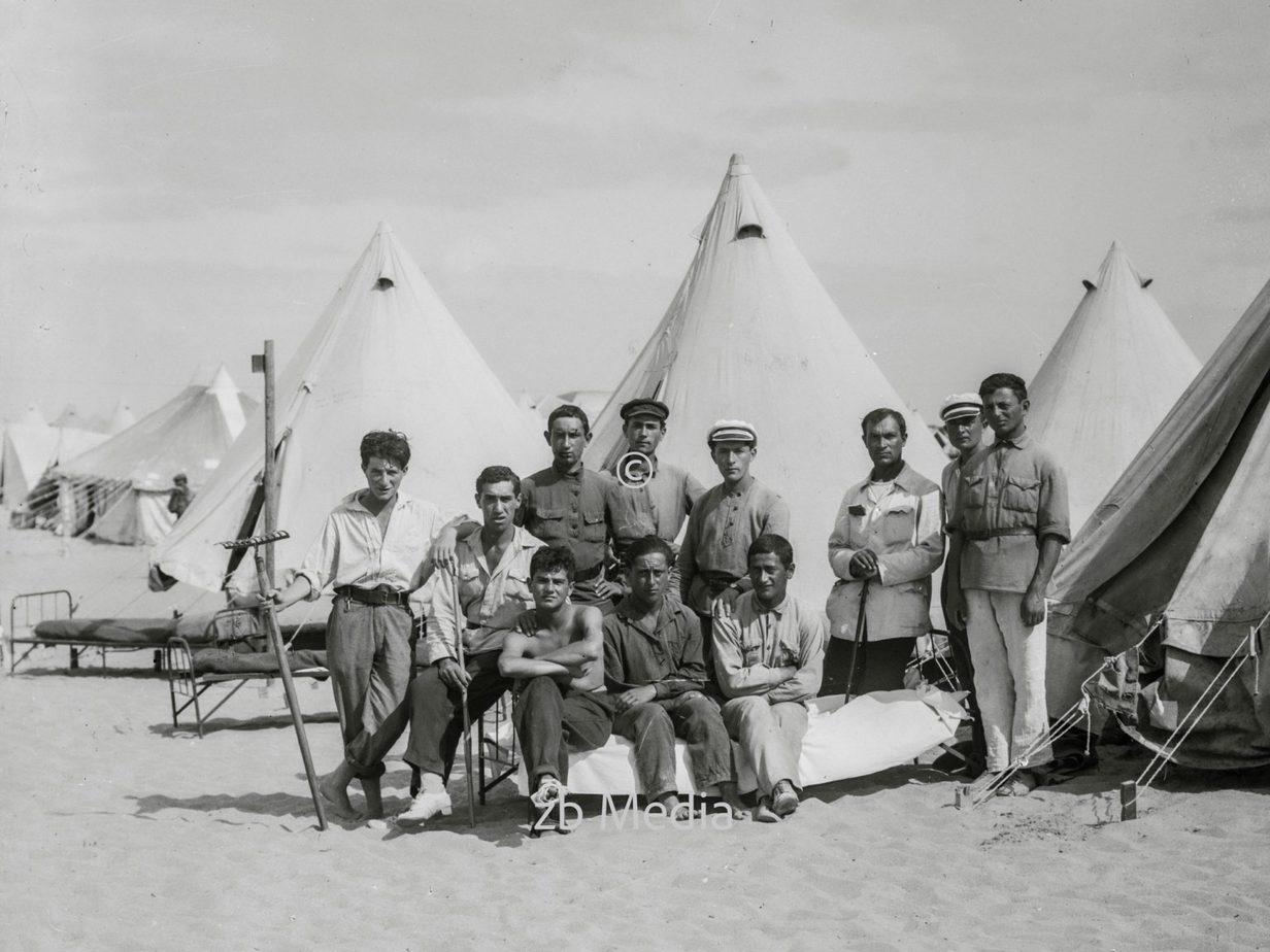 Notlager jüdischer Einwanderer in Tel Aviv 1936