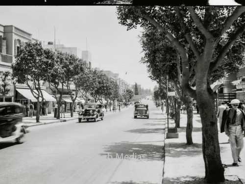 Allenby Street in Tel Aviv um 1935