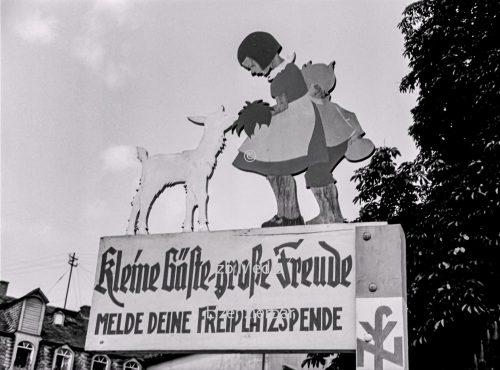 Werbetafel der NSV 1937