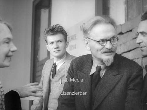 Trotsky with Jean van Heijenoort and Natalya Sedova