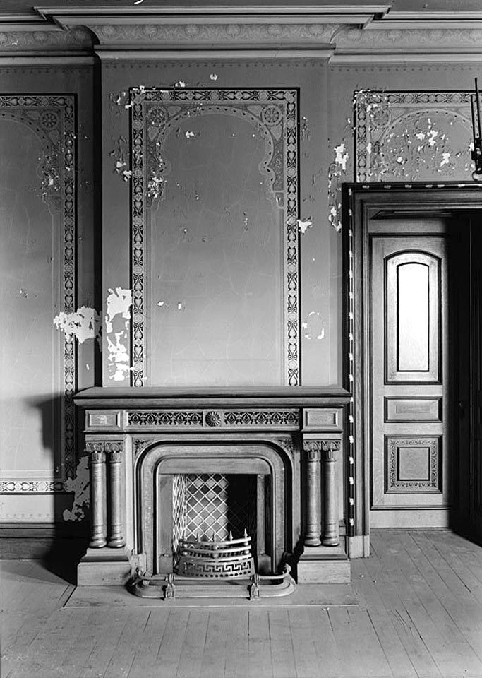 Fireplace hearth and mantel  Historic Details