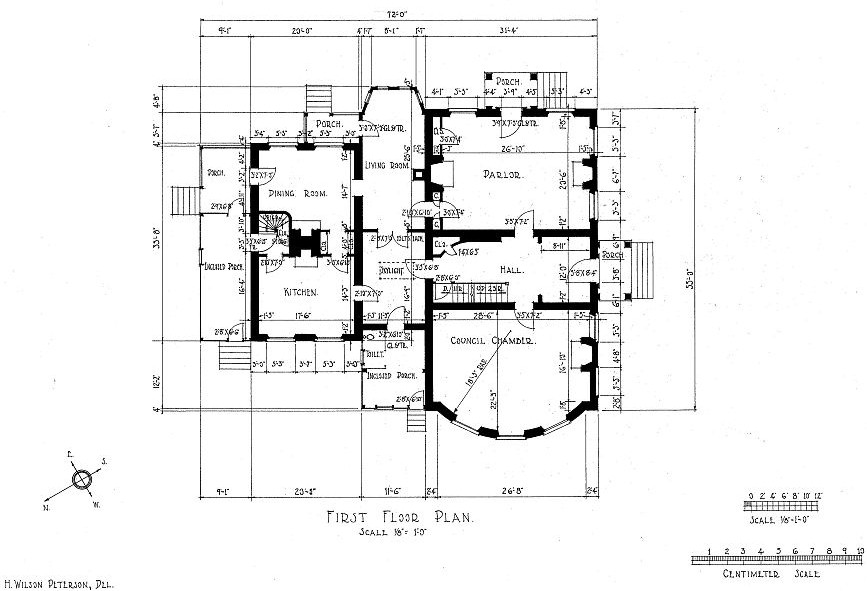 Floor Plans William Henry Harrison House, Vincennes, Indiana