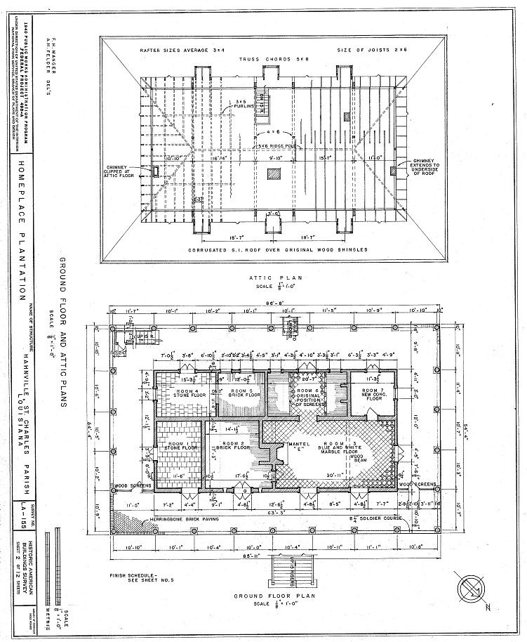 Floor Plans Homeplace Plantation, Hahnville, St Charles