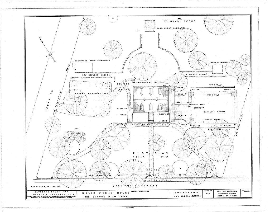 Floor Plans The Shadows Plantation Weeks Halls House