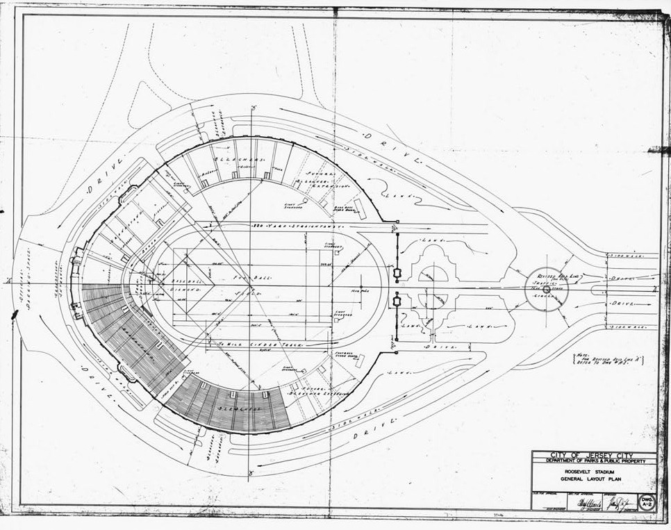 Blueprints and Plans 1 Roosevelt Stadium, Jersey City New