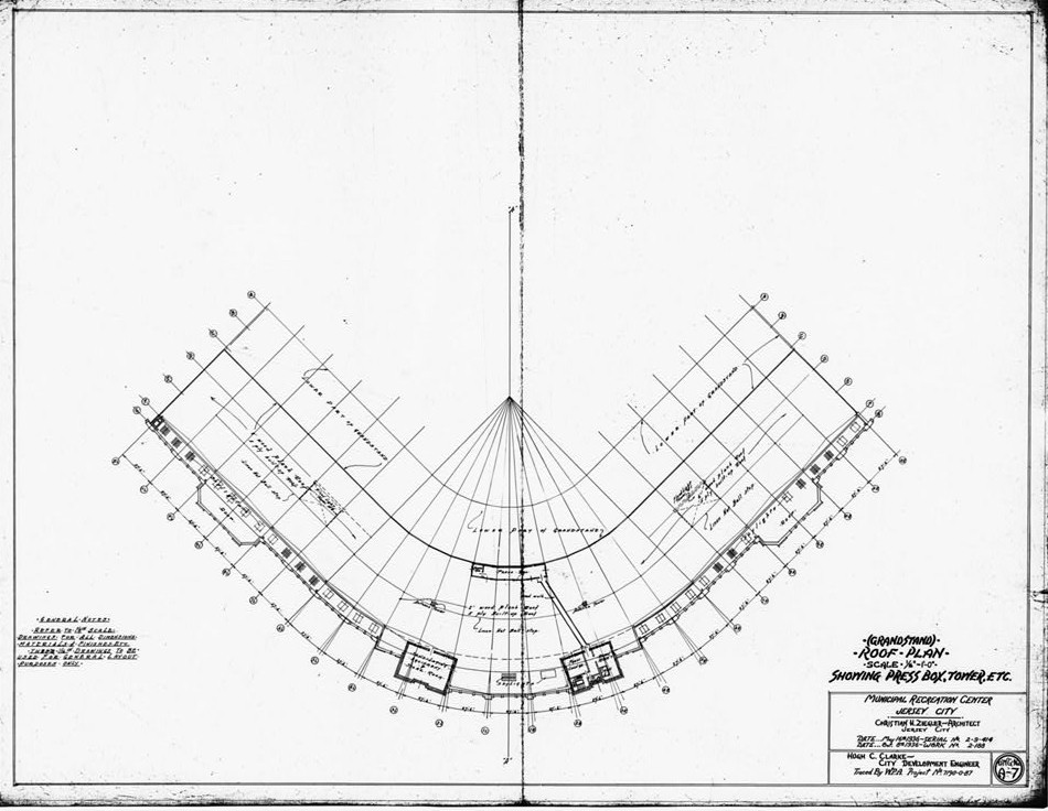 Blueprints and Plans 2 Roosevelt Stadium, Jersey City New