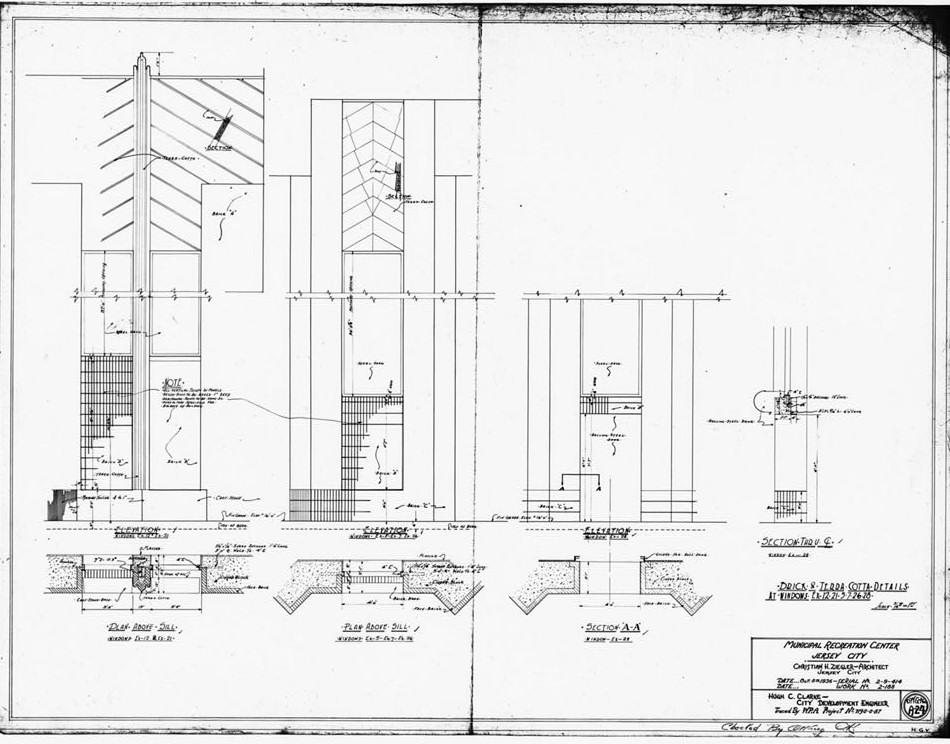 Blueprints and Plans 4 Roosevelt Stadium, Jersey City New