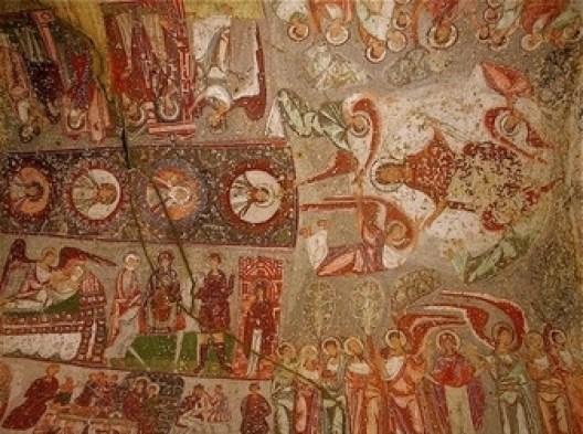 Τοιχογραφία στην εκκλησία των Δώδεκα Αποστόλων ή του Νικηφόρου Φωκά, στο Τσαβουσίν της Καππαδοκίας