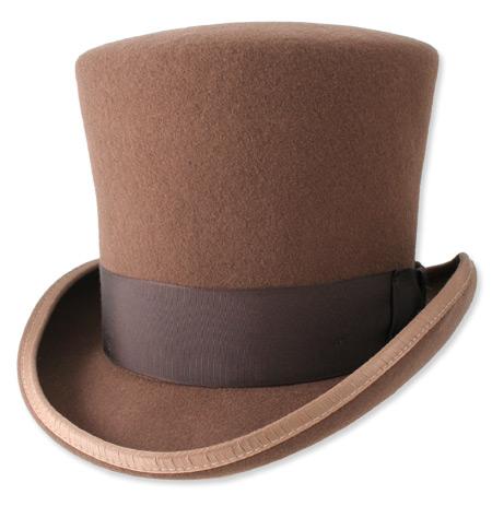 victorian top hat pecan