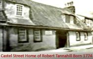 Castel Street Home of Robert Tannahil
