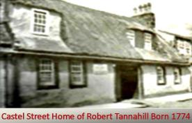 Castel Street Home of Robert Tannahil