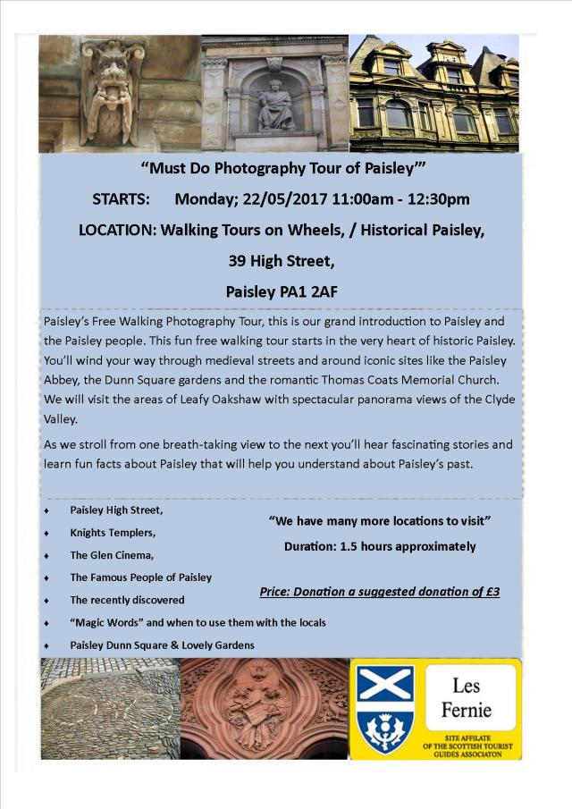 Must Do Photography Tour of Paisley 2017